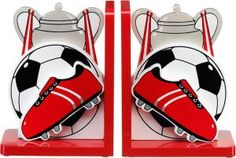 red football bookend