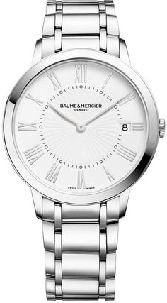 Baume et Mercier Watch Classima #bezel-fixed #bracelet-strap-steel…