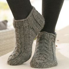 Alaska Knitted Ankle Socks - Free Pattern