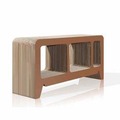 Home Interior, Be Creative to Make Cardboard Furniture Design!: Cardboard Furniture Design For Bookshelf