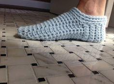 Ravelry: Ahh Spa Slippers pattern by Kris Basta - Kriskrafter, LLC Easy Crochet Slippers, Knit Slippers Free Pattern, Crochet Pillow Patterns Free, Crochet Blanket Edging, Crochet Slipper Pattern, Crochet Headband Pattern, Booties Crochet, Crochet Shoes, Knitting Patterns