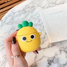 For AirPods Case Cute Fruit Strawberry Pineapple Avocado Pizza Earphone Cases For Apple Airpods 2 Protect Cover with Pendant Fone Apple, Apple Airpods 2, Apple Pin, Cute Ipod Cases, Iphone Cases, Apple Watch, Bluetooth Wireless Earphones, Headphones, Cute Pineapple