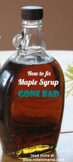 maple syrup gone bad.  Easy to fix!  Just skim any mold, boil it and pour into sterilized jars.  Keep refrigerated!