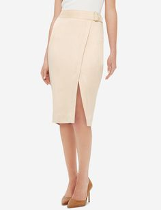 An elegantly soft faux suede has a subtle silky look that puts class into any special day. Women's Clothing, Clothes For Sale, Clothes For Women, High Waisted Skirt, Waist Skirt, Stylish Outfits, Dresses For Work, Suede Skirt