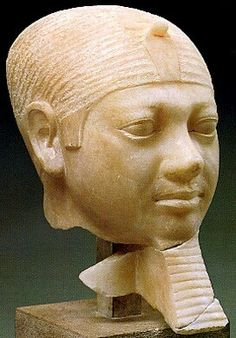 Alabaster head of Mycerinus/Menkaura/Mykerinos was the penultimate king of the 4th Dynasty and the last one to build his funerary monument at Giza.