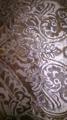 Close up of the burned out velvet. Devoire - please please please can we find some stock fabrics like this or can we do this ourselves? Renaissance, Textile Pattern Design, Velvet Scarf, Textile Prints, Textiles, Baroque, Soft Summer, Fabric Manipulation, Fashion Fabric