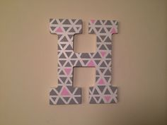 Personalized Painted Wooden Letters by LettersBeyondLetters