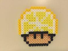perler bead mushroom Lemon - by Bjrnbr