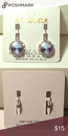 Aurora Earrings with Swarovski Elements Blue Aurora Earrings with Swarovski Aurora Jewelry Earrings