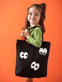 This googly eye bag is the spookiest.