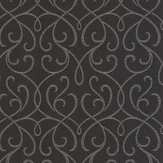 Accents Alouette Mod Swirl Scroll Wallpaper