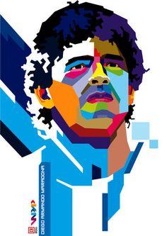 Diego Maradona by Rachmad Noviandi