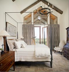 Both guest rooms ceilings are raised to the roof line, with stone floors and their own balconies with views overlooking the country side.