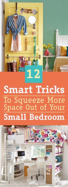 Bedrooms need to be a place of calmness and refreshment, but you can't achieve this unless your bedroom is a mess-free room. But what if your bedroom is a small one? Don't worry, There are a plenty of tricks that will help you to organize your small bedroom, and to take advantage of every inch in your room.