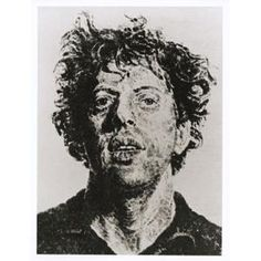 Phil/Fingerprint, Chuck Close, 1981, Dallas Museum of Art