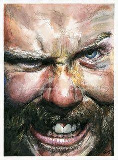 James Hetfield  Metallica  Watercolor and Ink  by NateMichaelsArt, $100.00