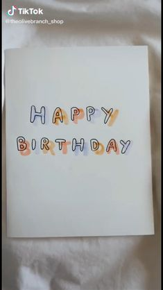 Happy Birthday Cards Handmade, Creative Birthday Cards, Birthday Cards For Friends, Bday Cards, Birthday Gifts For Best Friend, Birthday Card Drawing, Bullet Journal Ideas Pages, Cute Cards, Mothers