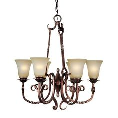 Forte Lighting 2212-06-27 6 Light Chandelier, Black Cherry This Forte Lighting product is available in a black cherry finish. Illuminated by six 100-watt