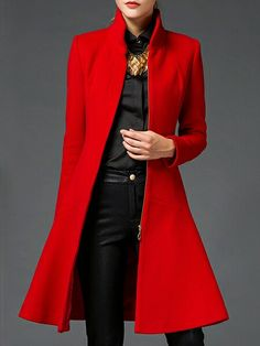 Love the tailored red or black jacket