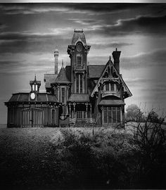 """""""Victorian House - kind of creepy and I love it!"""" - Dee comments: I like it too. But it's more than creepy, it looks like it may be haunted. I wonder where it is located so that I can go see it in person ... what a beauty. Is this a real house? I'll buy it!"""