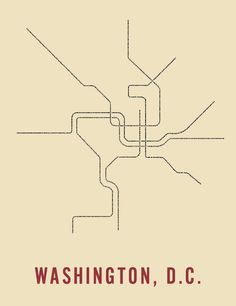 Washington D.C. Typographic Transportation Map