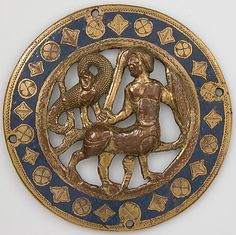 Medallion 13th century. French.