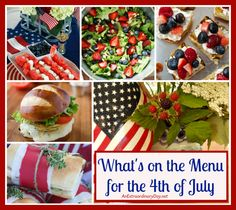 Sometimes the hardest part of planning for a party is selecting a menu. If you've been wondering what to serve at your 4th of July bash... I've made it super easy for you to plan an extraordinary party.