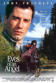 (1991 Eyes of an Angel) The little girl helps and befriends this dog and in turn he becomes her hero and protector. This movie will have you rooting for the dog and praying for the people he loves. The Star Doberman is amazing....as is the little girl and of course John Travolta. Beautiful movie, I love it!