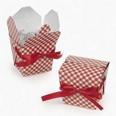 red gingham favor box,picnic,cookie box,pie box,cupcake gingham box,bbq,country - Jilly Bean Kids jillybeankids.com