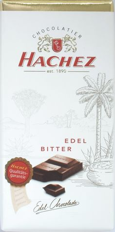 """Dies ist unser Geschmackstest der Hachez-Schokoladensorte """"Edel-Bitter"""" mit 60% Kakaogehalt."""