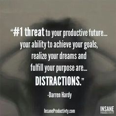 Don't let your distractions hold you back