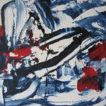 Fiona Tyler - Abstract  Acrylic and plaster on board 18 x 24