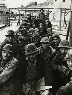 Margaret Bourke-White - Pittsburgh steel workers, PA, 1936 - Howard Greenberg Gallery