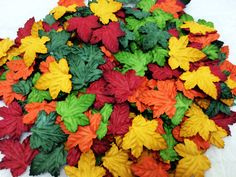 50 Mixed color Grape Craft Mulberry Paper Leaves by TheTime
