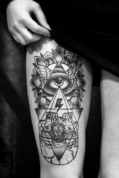 Amazing tattoo on the leg. Combined from lots of stuff. #tattoo #tattoos #ink #inked