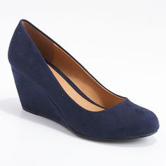 CL By Laundry - Nima Super Suede Wedge Pumps