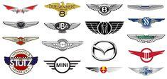 Car Logo With Wings, All Car Logos, Aston Martin Lagonda, Car Brands, All Cars, Abstract Shapes, Visual Identity, Symbols, Mini