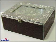 Caja decorada con estaño.         #manualidades #pinacam #estaño #aluminio  www.manualidadespinacam.com