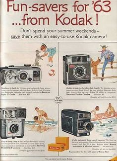 vintage kodak ad ( i just think its funny that the camera ad uses drawings instead of photos!)