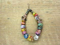 Bargain BUNDLE Multi-Colour Textured Ceramic Beads- Artisan Clay Beads No. 227 - pinned by pin4etsy.com