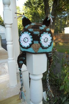 Childrens Crocheted Owl Hat with Ear by SherrysSewingandCroc, $20.00