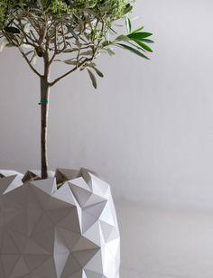 Un original macetero que crece con la planta.