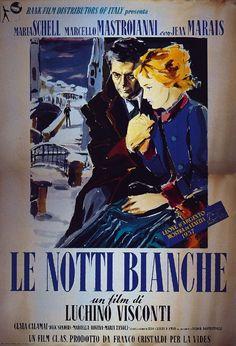 Le notti bianche, 1957 di Luchino Visconti con Maria Shell, Marcello Mastroianni e Jean Marais.