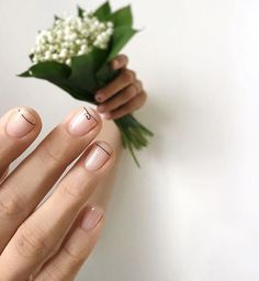 Nail Art Designs In Every Color And Style – Your Beautiful Nails Nail Art Designs, French Nail Designs, Nails Design, Minimalist Nails, French Nails, Manicure Y Pedicure, Super Nails, Nagel Gel, Pink Nails