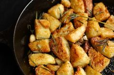 Roast Potatoes Two Ways: Polenta-Crusted and Rosemary Hash Browns | Simple Bites