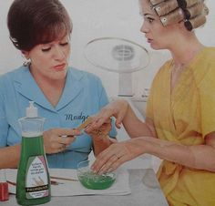 1968 Palmolive vintage photo beauty salon MADGE advertisement women curlers Dishwashing Liquid by Christian Montone, via Flickr