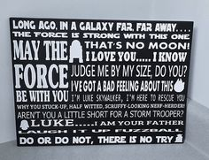 Star Wars Subway Art  May The Force Be With by WordArtTreasures