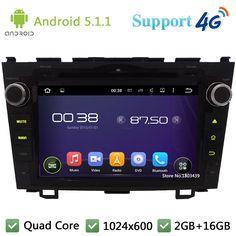 3G/4G 2Din Quad Core HD 1024*600 Android 5.1.1 Car Multimedia Player Radio DAB+  WIFI GPS Map For Honda CRV CR-V 2006-2011