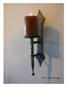 hand forged candle holders gothic