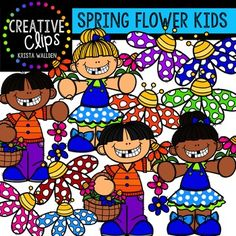 Enjoy these FREE happy kiddos and colorful flowers!! Thank you for supporting Creative Clips and keeping me motivated to keep creating! The images will have high resolution, so you can enlarge them and they will still be crisp. All images are in png formats so they can easily be layered in your
